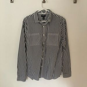 Forever 21 Striped Button Down